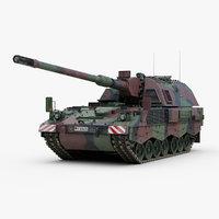 3ds max german panzerhaubitze 2000 artillery