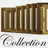 Collection of frames for pictures classical and traditional style