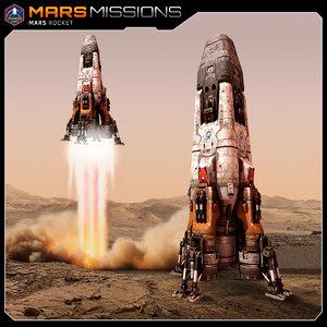 spaceship rocket 3d max