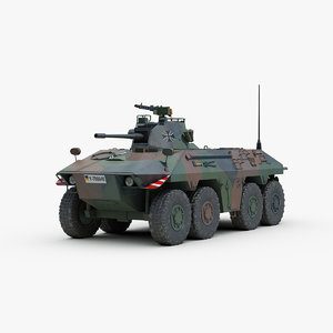 german luchs armoured fighting vehicle 3d max
