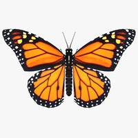 realistic monarch butterfly 3D model