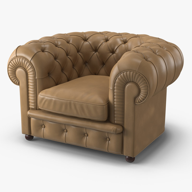 classic chester armchair 3d max