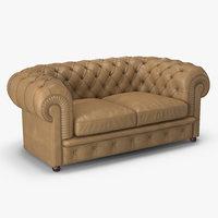 classic chester sofa 3d model