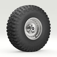 road wheel tire 6 3D