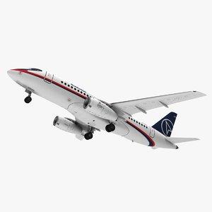 sukhoi superjet jet 3d model