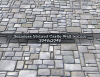 Castle Wall texture PBR