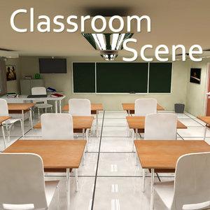 3D scene designed