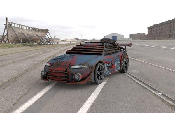 3d model sportcar vehicle coupe