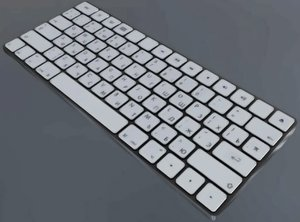 3D apple magic keyboard