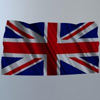 3D flag united kingdom