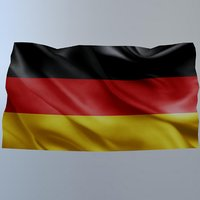 3D flag germany model