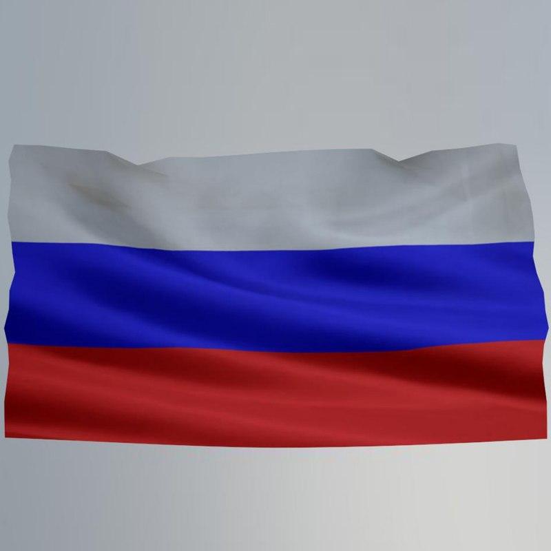 3D flag russia model