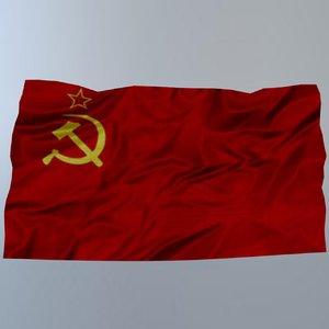flag ussr 3D model