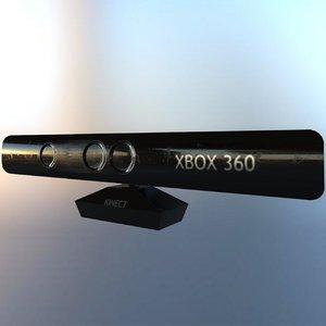 microsoft xbox 360 kinect 3D model