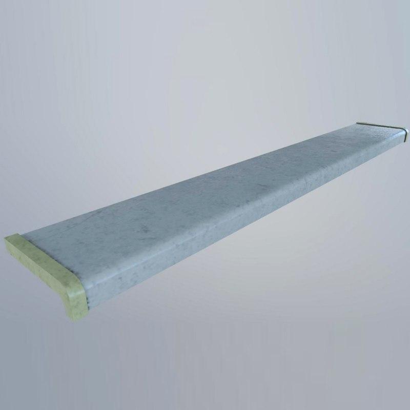 3D plastic sill model