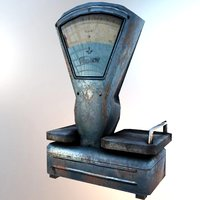 3D old scales model