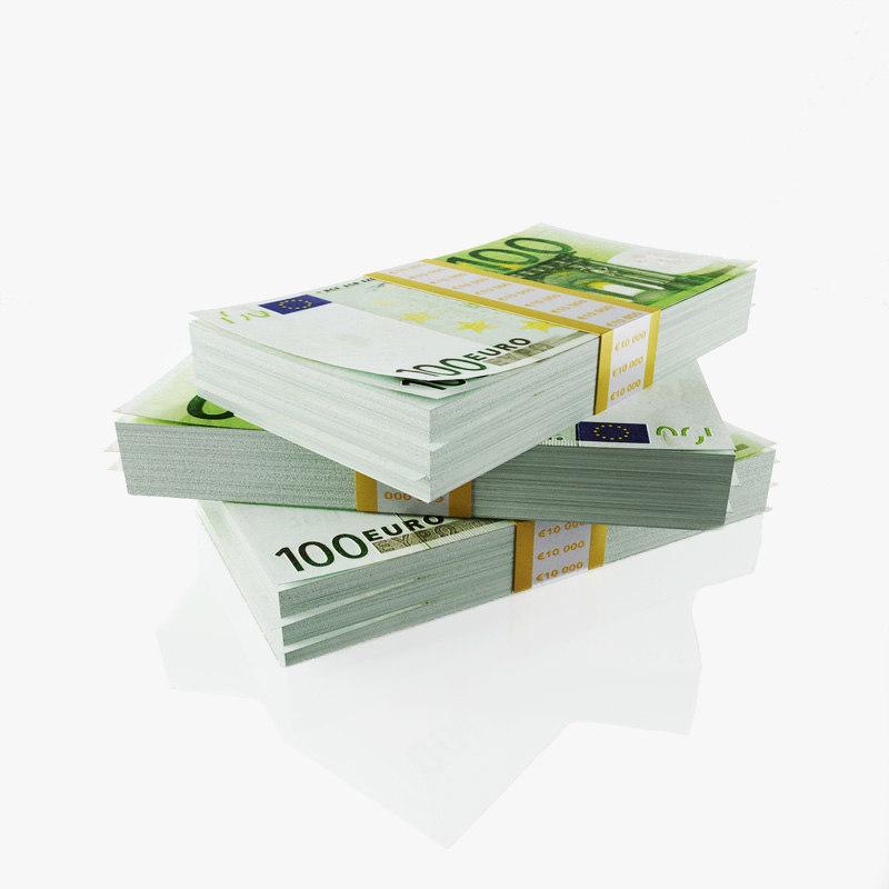 3d model 100 euros packs