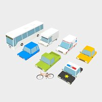 3d vehicles cars bicycle