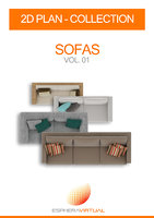 2D FLOORPLAN REALISTIC TOPDOWN VIEW - SOFAS VOL.1