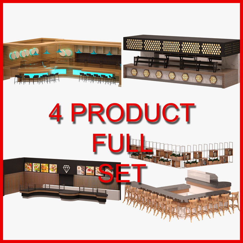 3D bar set furniture