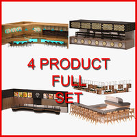 3D bar set furniture