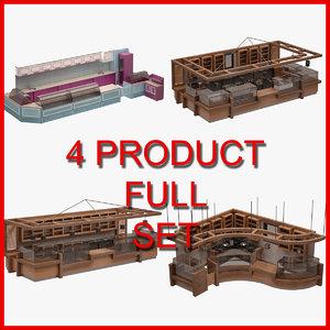 bar set furniture 3D model