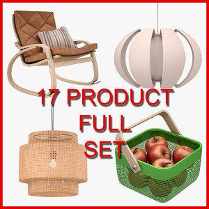 ikea furniture set 3D model