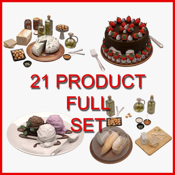 3D model 21 set