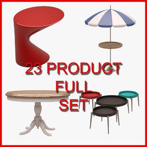 3D model 23 set