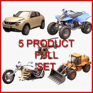 vehicle set 3D model