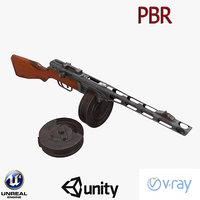 ppsh-41 3D model