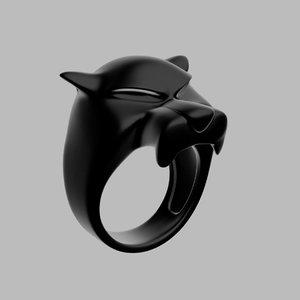 3D panther ring printable