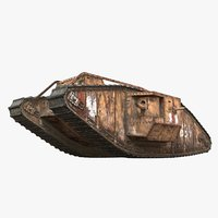 mark iv wwi tank model