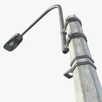 3d model asset streetlight polys
