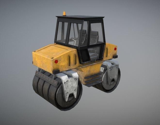 3D asphalt rolling machine