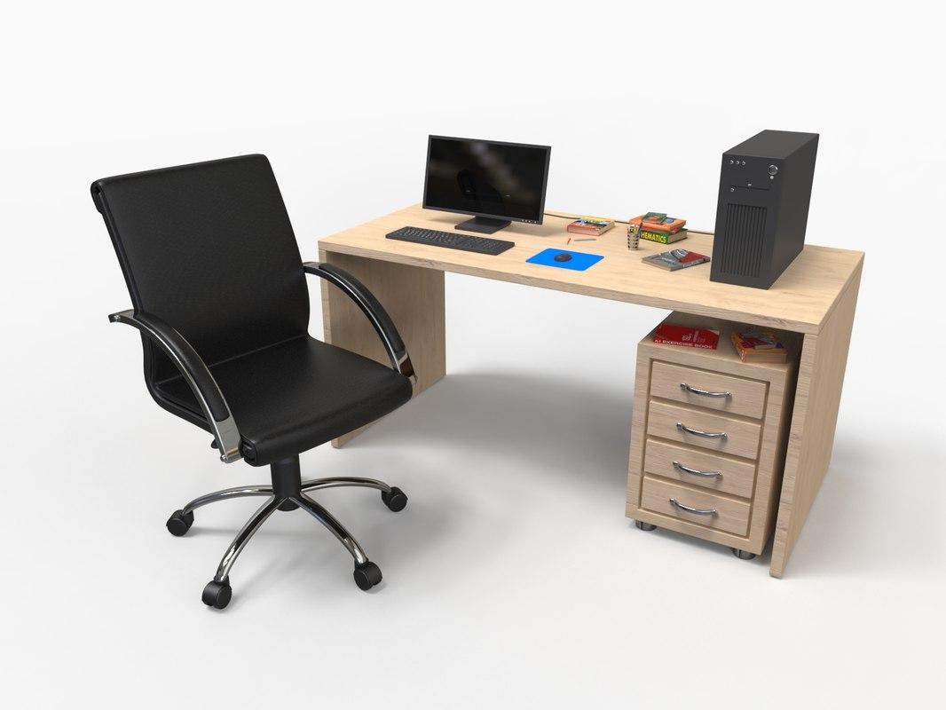 desk 3d obj