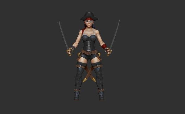 pirate girl 3D