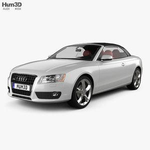 audi a5 convertible 3d model