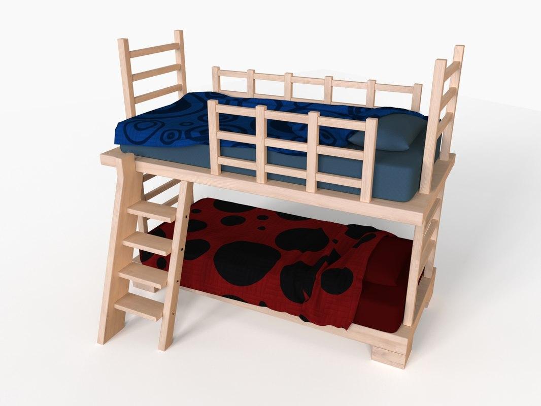 3d model of bunk bed