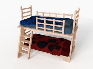 3d model of bunk bed