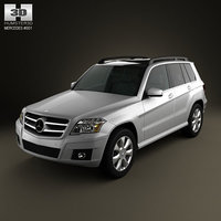 mercedes-benz glk 2010 luxury 3d model
