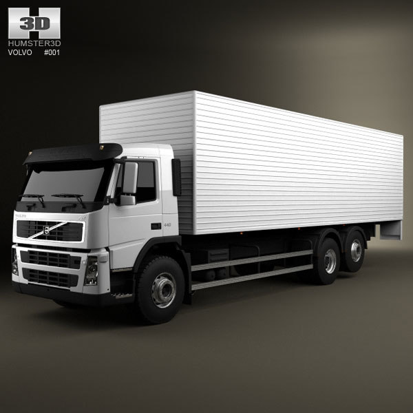 3d model of 6x2 delivery truck