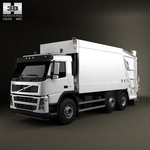 6x2 garbage truck obj