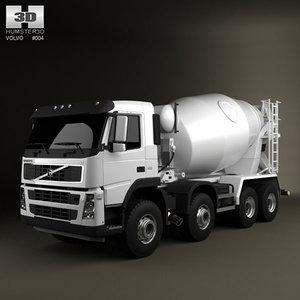 8x4 mixer truck 3d lwo