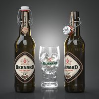3d model of bernard svatecni beer bottles