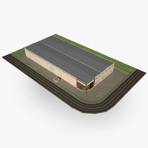 modern wholesale trade center 3d obj