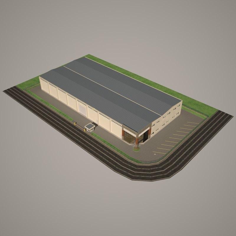 modern wholesale trade center 3d obj