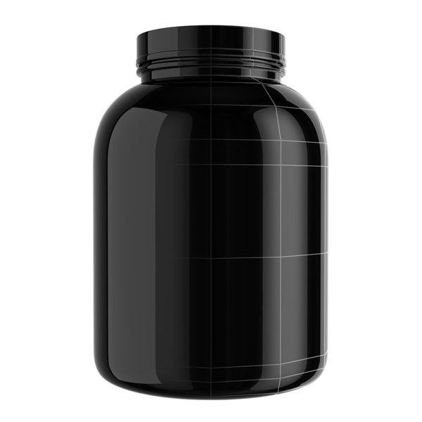 3d model protein bottle