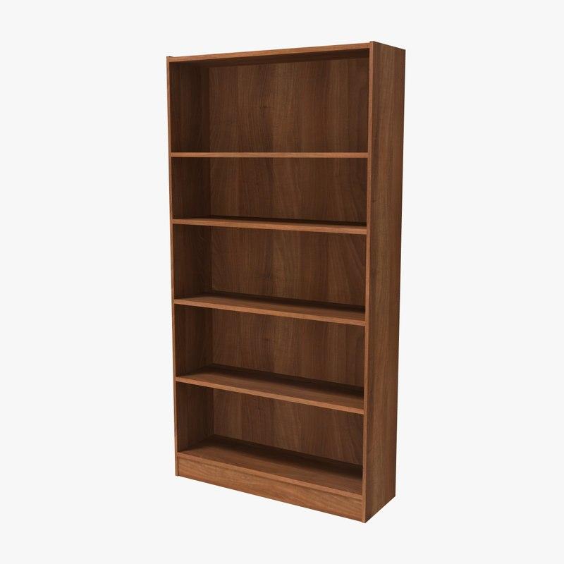3D bookshelf book model