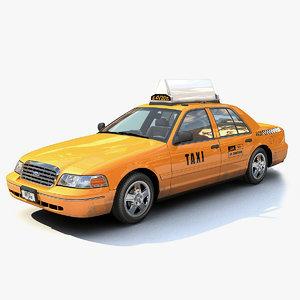 3d new york taxi model